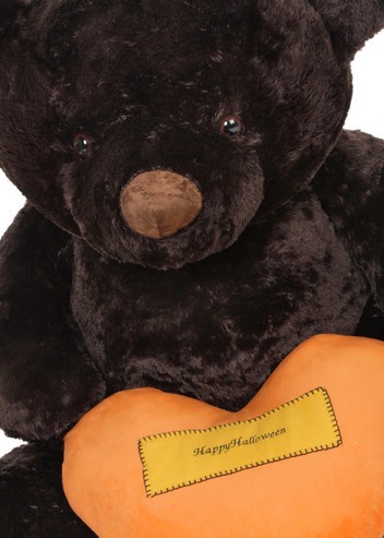 Big Halloween Teddy Bear - Happy Halloween Pillow