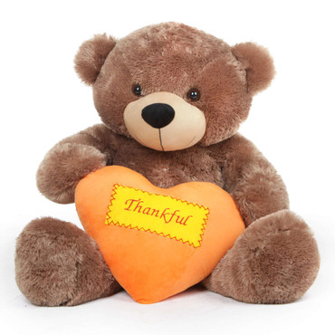 Mocha Brown Thanksgiving Teddy Bear