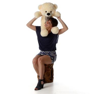 Over sized Cream Teddy Bear Cozy Cuddles 30in