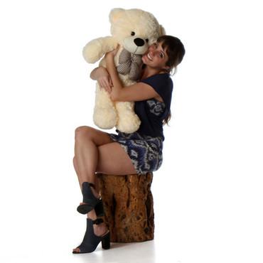 30in Cozy Cuddles Cream Teddy Bear