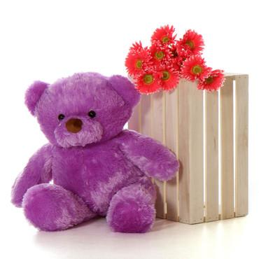 30'' Big Purple Teddy Bear Lila Chubs