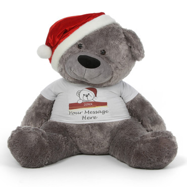 Personalized Big Teddy Bear for Christmas
