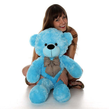 30in Happy Cuddles Blue Teddy Bear Best gift