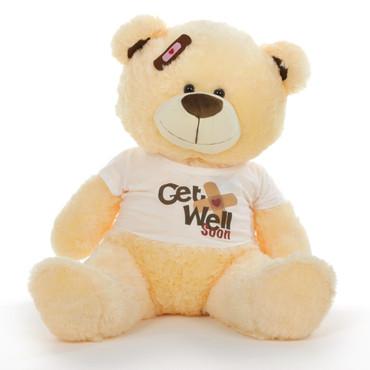 """35"""" Get Well Soon Teddy Bear, Vanilla"""