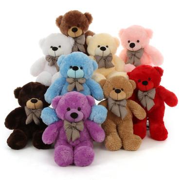 Multi Color 30 in tan Teddy Bears