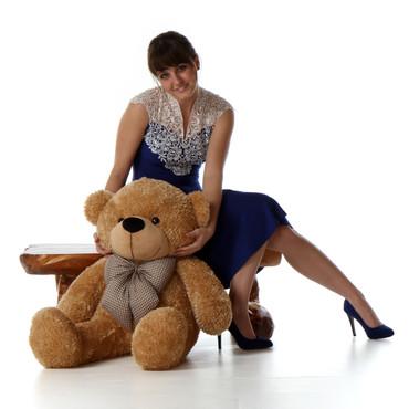 Shaggy Cuddles Cute and Cuddly Plush Amber Teddy Bear 30in