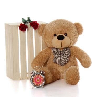 2.5ft cute Oversized Tan Teddy Bear Shaggy Cuddles