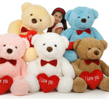 38in Chubs Valentine's Day I Love You Giant Teddy Bears are so romantic