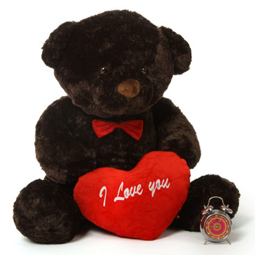 Valentine's Day 4Ft Chubs Teddy Bears with I Love You heart and Red Bow Tie
