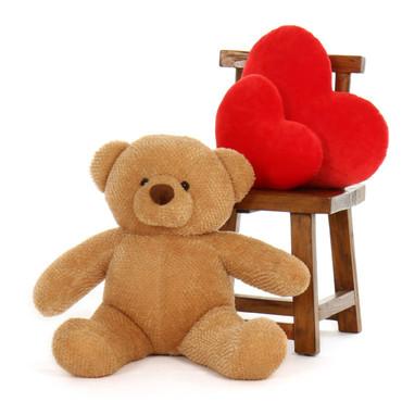 Big Amber Teddy Bear Cutie Chubs 30in