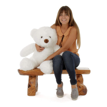 30in White Sprinkle Chubs Giant Teddy Bear