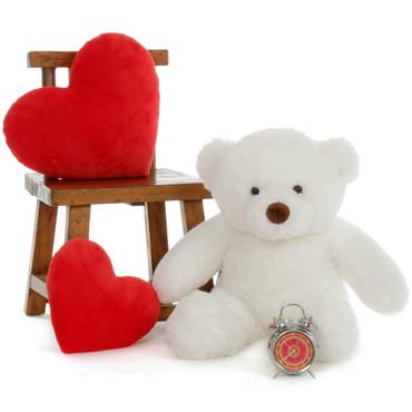 Super Soft Big White Teddy Bear