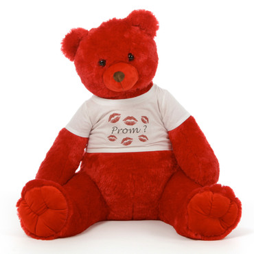 3½ ft Scarlet Tubs Cuddly Red Prom Teddy Bear w/ Personalized Options