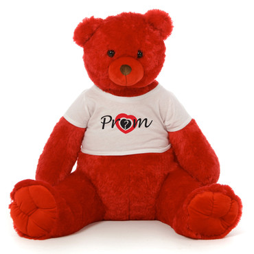 3½ ft Scarlet Tubs Cuddly Red Prom Teddy Bear (Prom? - Heart Target)