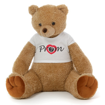 Big 2½ ft Personalized 'Prom' Teddy Bear Amber Brown Honey Tubs