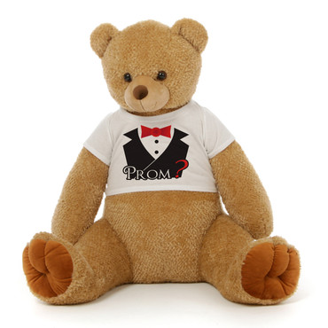 3½ ft Honey Tubs Adorable Amber Brown Prom Teddy Bear (Prom ? - Tuxedo)