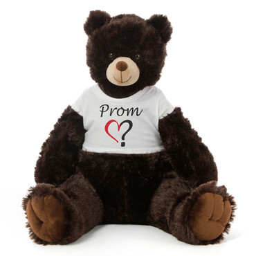 2½ ft Baby Tubs Cuddly Dark Brown Prom Teddy Bear (Prom? - Single Heart)