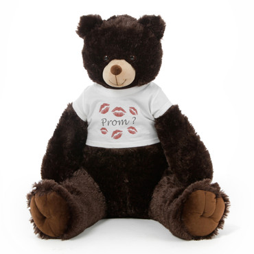 3½ ft Baby Tubs Cuddly Dark Brown Prom Teddy Bear (Prom? - Tiny Kisses)