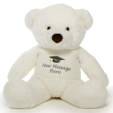 48in Personalized Chubs White Graduation Bear