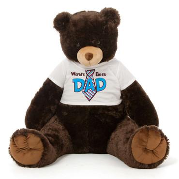 Dark Brown Teddy Bear Gift For Dad