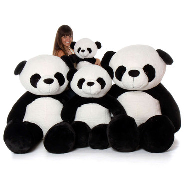 Big Plush Stuffed Giant Panda Family