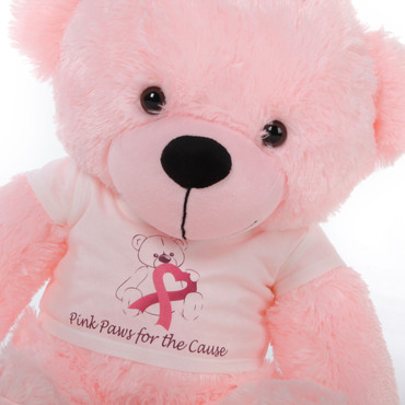 2 Foot Pink Giant Teddy Lady Cuddles for October Awareness Month