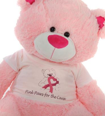4 Foot Pink Giant Teddy Bear Lulu Shags Breast Cancer Awareness