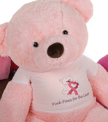 60in Giant Pink Teddy Bear Gigi Chubs for the Breast Cancer Cure