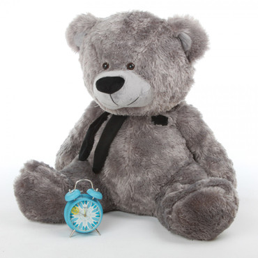 Sitting Position Silver Teddy Bear by Giant Teddy Brand