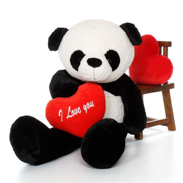 5ft Valentine's Day Giant Panda Bear with a Red 'I love you' heart