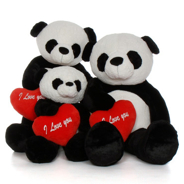 Panda Stuffed Animal Family