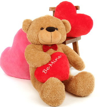 "Shaggy Cuddles ""Be Mine"" 3 Foot Valentine's Day Teddy Bear"