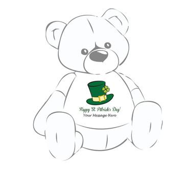 'Happy St. Patrick's Day!' Giant Teddy Bear Personalized Shirt