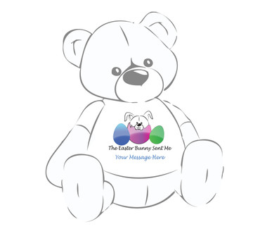 """Personalized """"The Easter Bunny Sent Me"""" Giant Teddy Bear Easter shirt"""