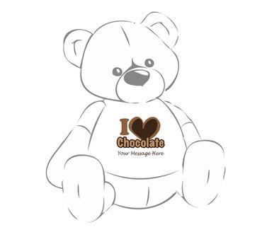 Personalized I Love Chocolate Giant Teddy Bear shirt