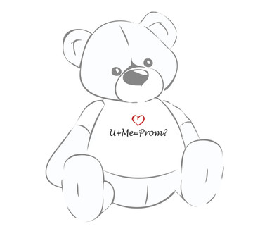 U+Me=Prom? Giant Teddy shirt