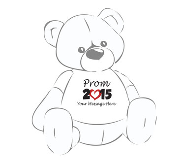 Prom 2015 Personalized Giant Teddy Bear