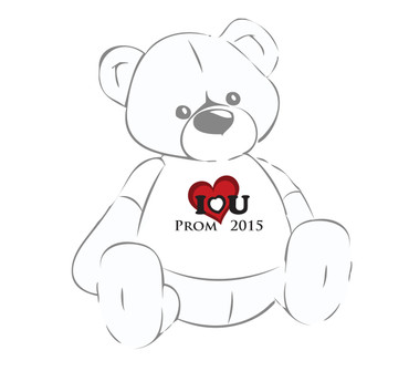 Giant Teddy Prom 2015 I love you shirt