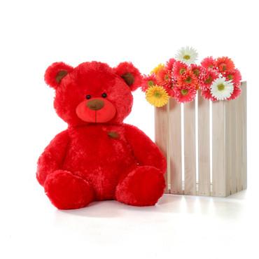 Super Soft Red 27 Inch Tall Big Teddy Bear