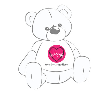 Personalized Mom Center of My Heart Giant Teddy Bear shirt