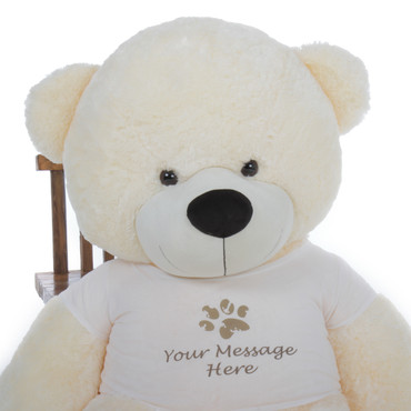6 feet Huge Huggable Cream Plush Teddy Bear