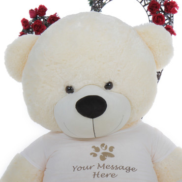 6 ft Supper Soft Vanilla Personalized Teddy Bear Gift