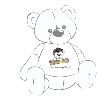 Giant Teddy Bear w/Cap and Diploma