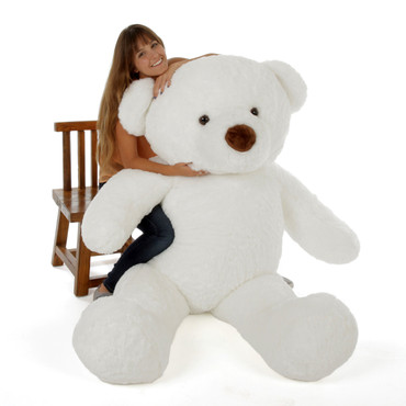 Biggest White Teddy Bear 6 Foot Tall Huge Chubs