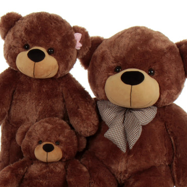 Adorable Brown Bears Set Of three Gift Huge Family Giant Teddy