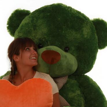 72in Life Size Green teddy bear cuddles gigantic standing bear