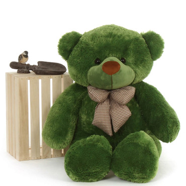 48in green teddy bear Big smile and soft cuddly bear