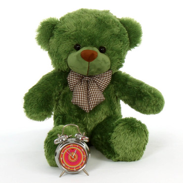 2 feet 6 inches Green lucky cuddles snuggly soft beautiful cute teddy bear