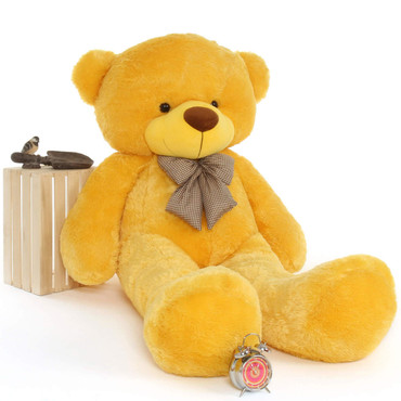 6ft Life Size Yellow Teddy Bear Daisy Cuddles Giant Teddy Brand