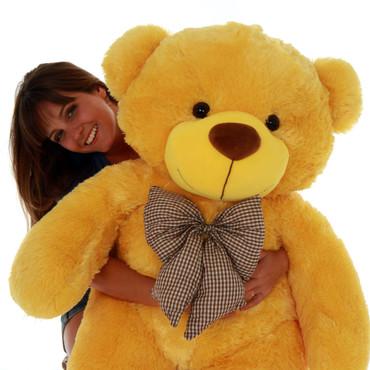 4ft Life Size biggest Yellow Teddy Bear extra snuggly sunshine Daisy Cuddles Giant Teddy